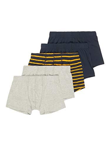 NAME IT Jungen NKMTIGHTS 5P INJ Boxershorts, Grey Melange, 158-164