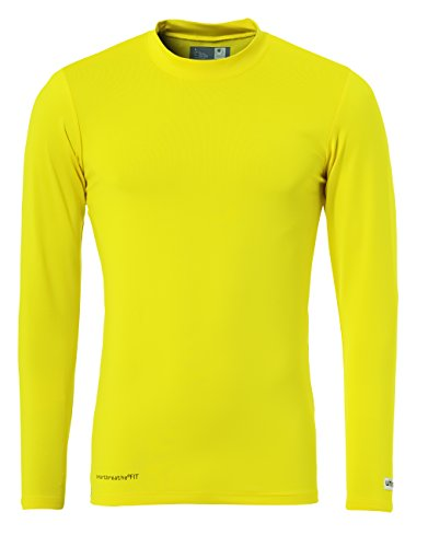 Uhlsport Distinction Colors Baselayer Camiseta de Manga Larga, HombreAmarillo (Lime Yellow), M