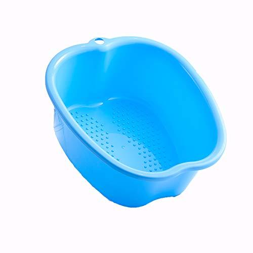 Große Fußbadewannenschüssel, Dickes festes Plastikfußbecken für Pediküre, Detox und Massage, vollkommen, um Ihre Füße, Zehennägel und Knöchel zu tränken,Brown (Blue)