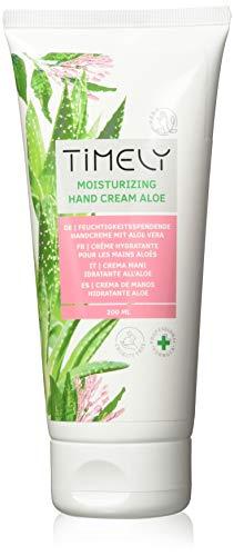 Timely - Crema de manos hidratante y regeneradora con aloe, 200 ml