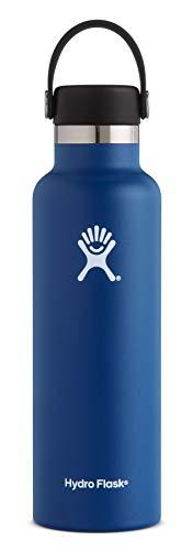 Hydroflask Bouteille d'eau isotherme avec couvercle Bleu...