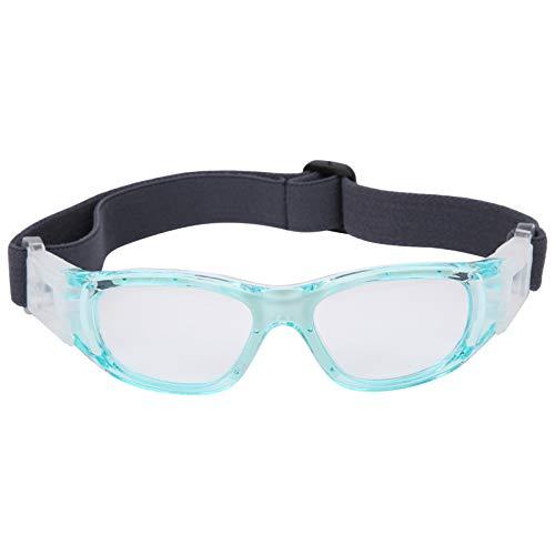 Deror Kinder Sportbrille Teenager verstellbare Fußball Radfahren Basketball Brille(Blau)