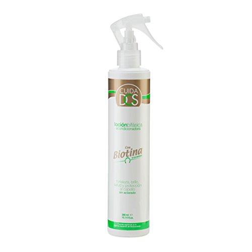 Cuidados Loción bifásica acondicionadora con biotina (vitamina B7) y keratina. Acondicionador capilar fortalezedor pelo. Serum capilar sin aclarado - 300 ml