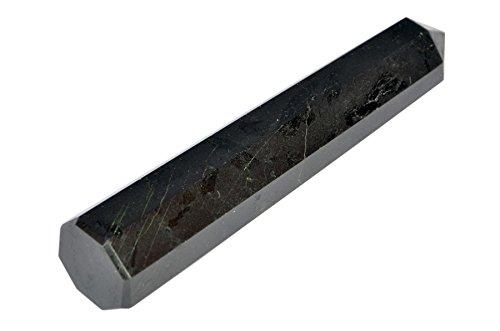 Black Tourmaline Genuine Obelisk Tower Therapy Massage Paperweight Prism