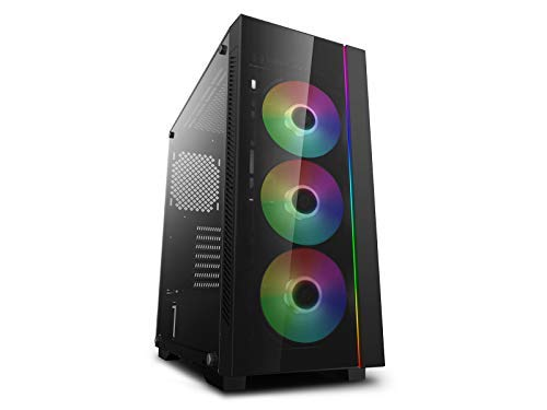 DEEPCOOL MATREXX 55 V3 ADD-RGB 3F Mid-Tower E-ATX Computer Case, Integrated A-RGB LED Strip with Motherboard or Button Control for Compatible RGB Components, 3 Pre-Installed 120mm A-RGB Fans