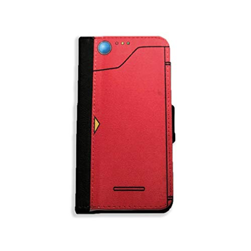 Pokédex - Flip Wallet Case Made to fit iPhone X - PU Leather Case with Multi Credit Card Holder Folio Magnetic Closure