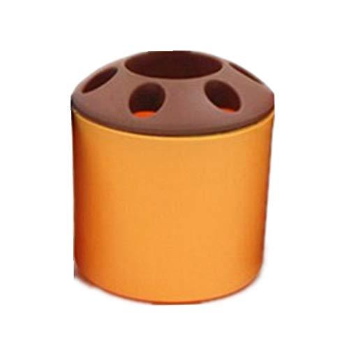 CCMOO 6 Gaten tandenborstelhouder badkamer zonnebrandcrème gezichtsreiniger toner opbergdoos kantoor bureau pennen container