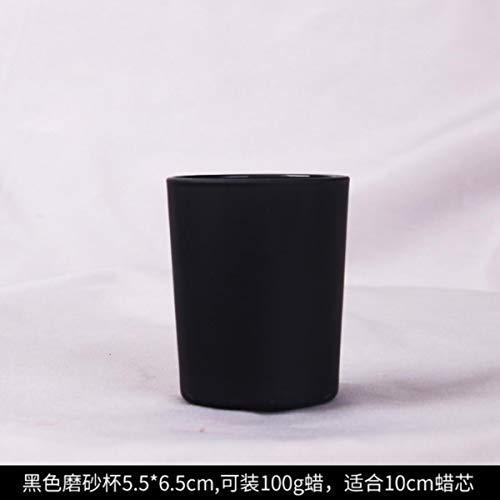 50st / pakket DIY handleiding kaars drank container/glas kaarsen aromatherapie kaarsen kaars cup glazen aan de groothandel,5.5x6.5cm 50st Cup