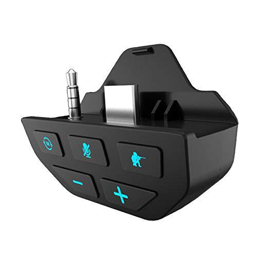 Gazechimp Auriculares Altavoces Auriculares Adaptador de Audio Sonido estéreo potenciador de Sonido para Microsoft Xbox One Controlador-Cool botón LED, no - Negro