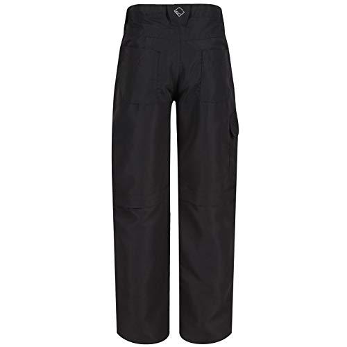 Regatta Pantalon Technique Junior SORCER II léger avec Jambes dézipables, Zones réfléchissantes et Poches Multiples Trousers Mixte Enfant, Ash, FR : M (Taille Fabricant : 5-6)