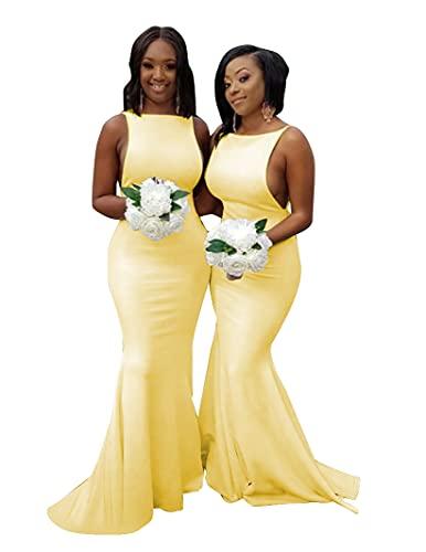 Rjer Yellow Bridesmaid Dress, Yellow Bridesmaid Dresses for Wedding,Yellow Dress 2021 Size 20