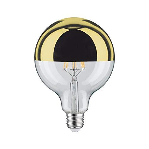 Bombilla GLOBO LED Regulable 5W con cúpula dorada de diámetro 125mm rosca E27 de luz cálida 2700K