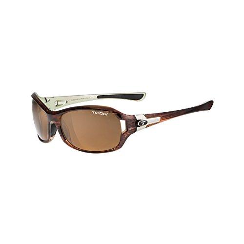 Tifosi Women's Dea Sl Polarized Wrap Sunglasses, Sagewood, 64 mm