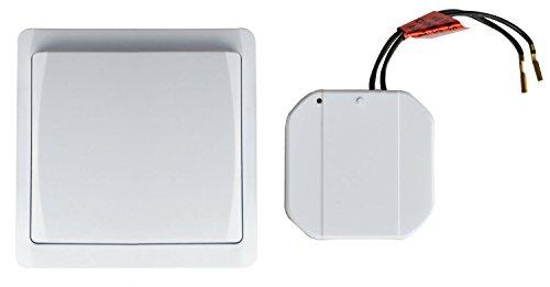 Tibelec 624710 Kit interrupteur va et vient sans fil, pose facile, Blanc