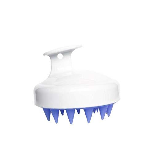 Naisicatar 1pc Shampoo-bürsten-Haar-kopfmassage Wet & Trockenes Haar Kopfhaut-Massage-bürste-weiche Silikon-kamm Kopfhautpflege Werkzeug Dusche Bürste Für Männer Frauen Kinder Und Haustiere (weiß)
