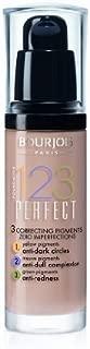 2 x Bourjois Paris 123 Perfect Foundation 30ml New & Sealed - 53 Light Beige