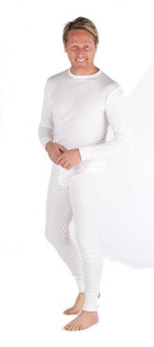 Socks Uwear Ensemble de sous-vêtements thermiques avec haut à manches longues et caleçon long pour homme - Blanc - Medium