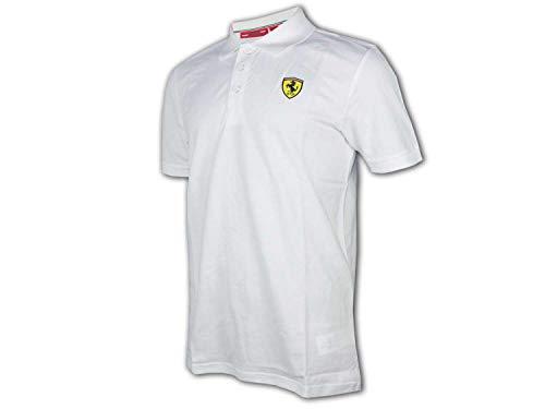 FERRARI Scuderia F1 Classic Poloshirt weiß Formel 1 Fan Jersey Shirt Trikot, Größe:XXL