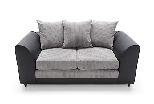 Abakus Direct Byron 2 Seater Black and Charcoal
