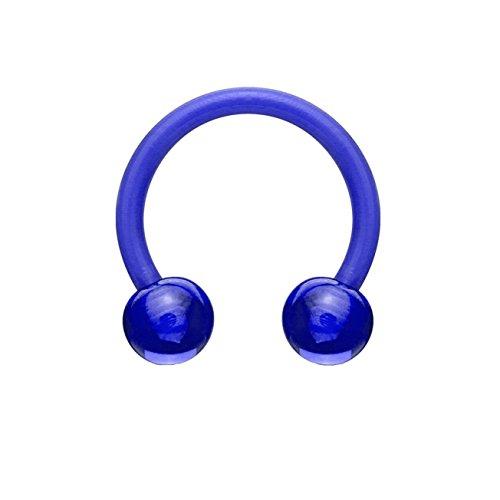 beyoutifulthings Hufeisen-Piercing ACRYL Universal-Piercing Brust Nippel Nase Septum Ohr Helix Cartilage Blau 1,2mm 10mm