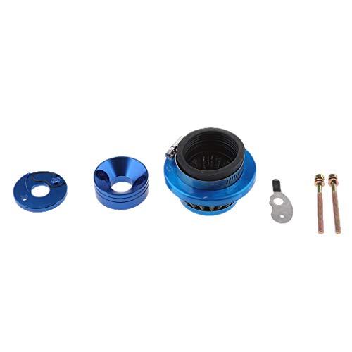 MagiDeal 45mm Filtre à Air Haute Performance + Adaptateur De Scooter Mini Quad Pocket Moto - Bleu