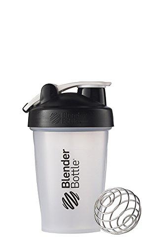 BlenderBottle Classic Shaker Bottle, 20-Ounce Loop Top, Clear/Black