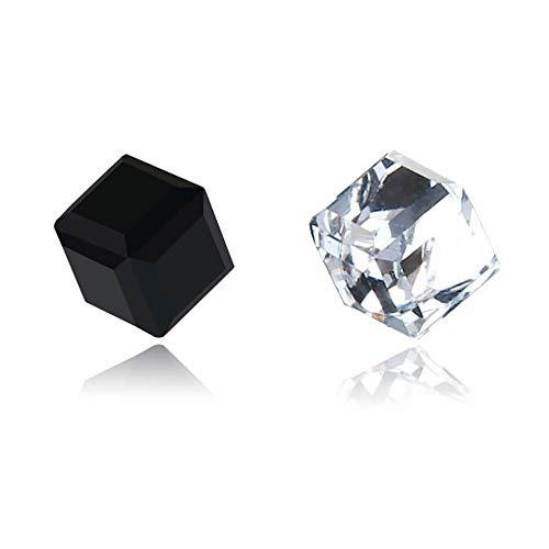 Pendientes de cristal de diamante con imán de cubo de agua, pendientes falsos de ferrita magnética fuerte