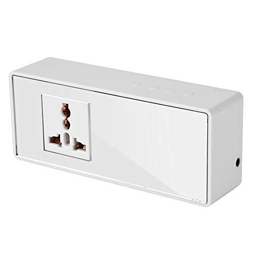 Qini Interruptor de Control del termostato, Interruptor de Control de enfriamiento de calefacción temporización Pantalla LCD Inteligente de tamaño pequeño para Invernadero(European regulations)