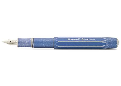 Kaweco Füllfederhalter Al Sport Blau I Premium Füllfederhalter Luxus für Tintenpatronen mit hochwertiger Stahlfeder I Kaweco Sport Füller 13,5 cm Stonewashed Blue Federbreite: EF (Extra Fein)