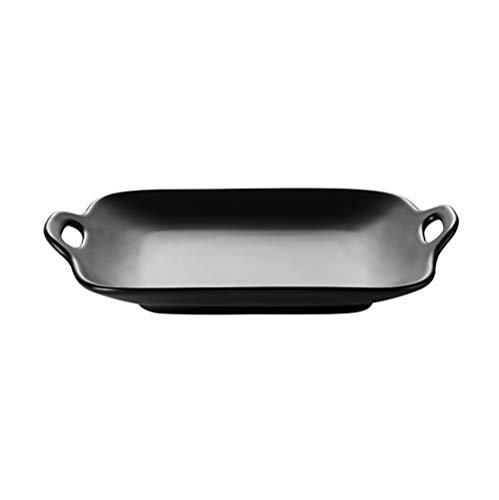 JIAWEI Haushalt Dish Set, Schüssel Teller Geschirr Chinese Kombination Besteck, Kloß Dish, Sauce Plate(:Binaural Flat Disk 1
