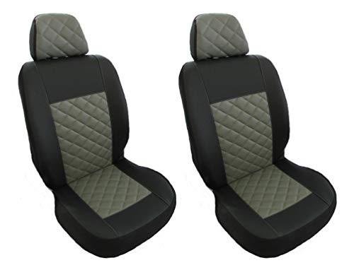 Designet passend für Mercedes Sprinter, Crafter 2006–2018 schwarze Vordersitzbezüge aus Öko-Leder, 1 + 1 Stellen.