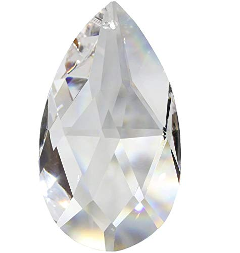 Christoph Palme Leuchten Kristall Tropfen 38mm 8 Stück Sonnenfänger Rautenwachtel Regenbogenkristall Feng Shui Waldorf Fensterdeko 30% Bleikristall Kristallglas