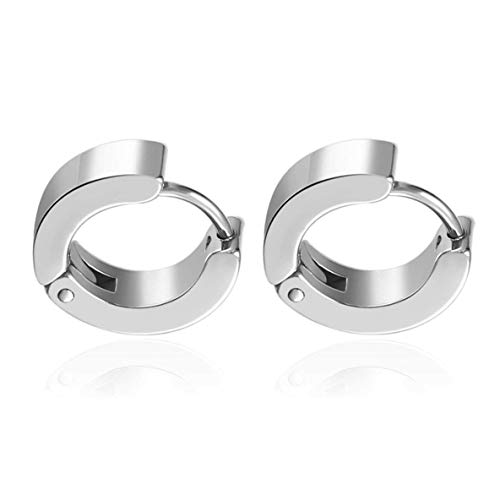 Jewelry Pair Unique Punk Style Cool Mens Stainless Steel Round Hoop Piercing Studs 15mm Earring Piercing Jewelry