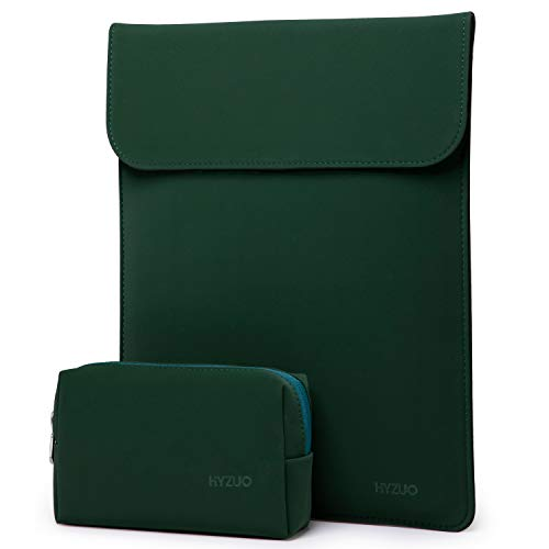 HYZUO 13-13,5 Zoll Laptop Hülle Tasche Laptophülle Compatibel mit 13,5 Surface Laptop/Alt MacBook Air 13/MacBook Pro 13 2012-2015/12,9 iPad Pro 2015 2017/Hp Spectre x360 13, Mitternacht grün