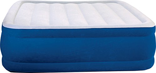 Beautyrest Plush Aire Inflatable Mattress: Raised-Profile Air Bed with External Pump, Queen