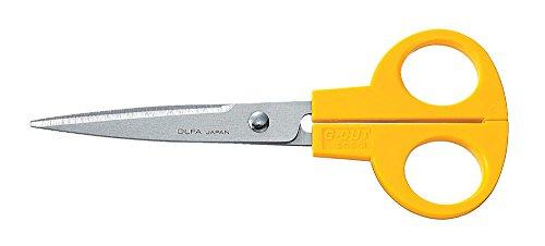 Olfa 505301 Tijera multiusos con cuchillas dentadas de acero inoxidable de 160 mm
