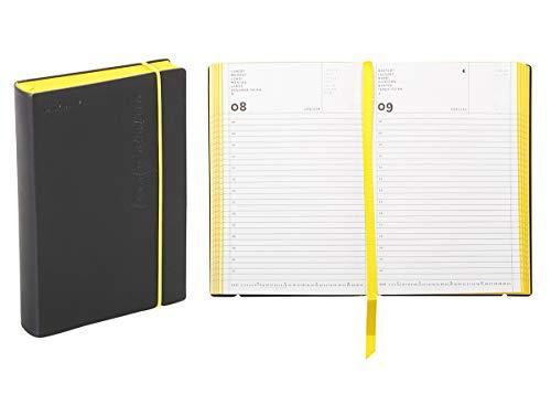 Agenda giornaliera 2020 Flexy-Diary, 11 X 16,5 Cm colore nero