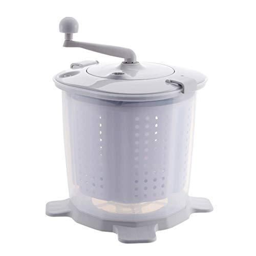 Yclty Tragbare Manuelle Waschmaschine Handbetriebene Waschmaschine Handkurbeln Mini-Waschmaschine Nicht Elektrischer Schleudertrockner, Einfach Zu Bedienen, für Wohnmobile In Wohnheimen