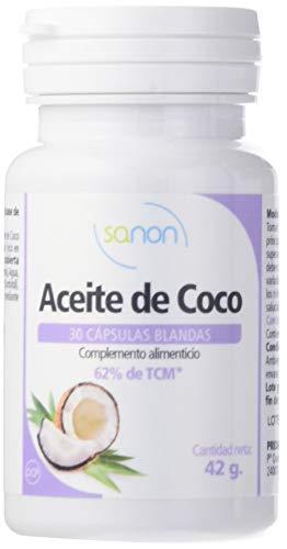 Sanon Aceite de Coco - 2 Paquetes de 30 Cápsulas