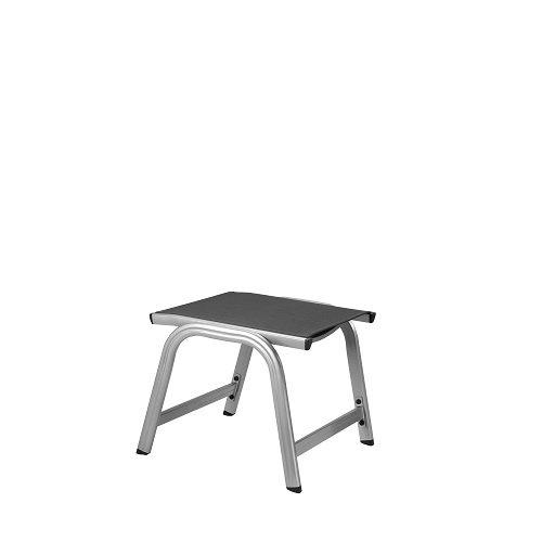Kettler Basic Plus Advantage Gartenhocker Metall – stabiler Alu Hocker für Terrasse und Balkon – langlebige & wetterfeste Gartenmöbel mit Stil – UV-beständig – silber/anthrazit