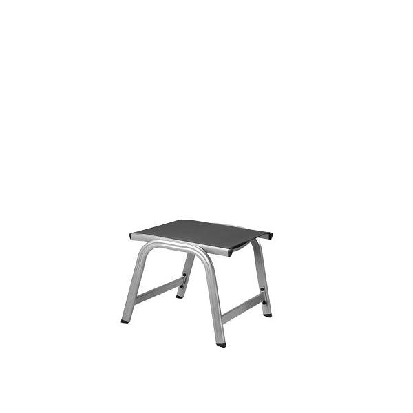 Kettler Basic Plus Advantage Gartenhocker Metall – stabiler Alu Hocker für Terrasse und Balkon – langlebige…