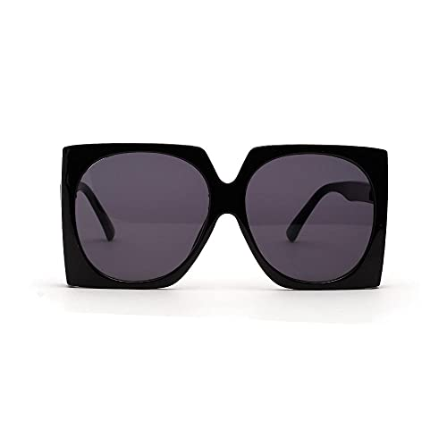 Siyse Gafas de Sol Retro Marco Grande Mujer Lente Tintada Gafas ProteccióN Uv400 Hombres-D