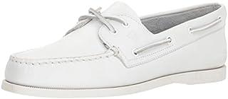 SPERRY Men's A/O 2-Eye Boat Shoe, White, 7.5
