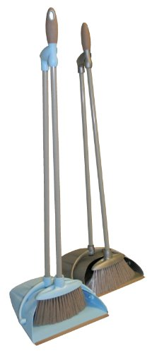 allaroundprofi24 (AP24) Softgriff Kehrset Schaufel BLAU Besen Kehrgarnitur Kehrschaufel mit langem Stiel Handfeger Handbesen