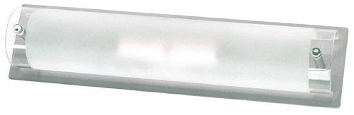 Smartwares 3000.035 Modena Bathroom Light – 2x E14 Sockel, aus gebürstetem Stahl und Glas