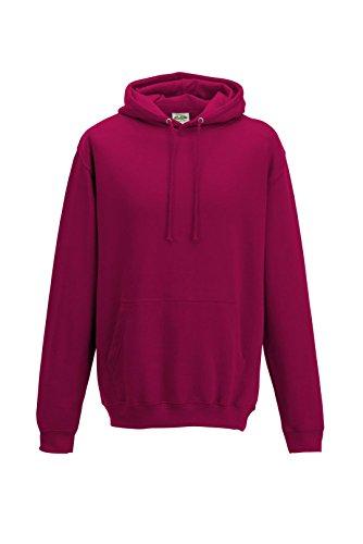 Just Hoods - Sweat-shirt à capuche - Homme - Rose - Canneberge - XL