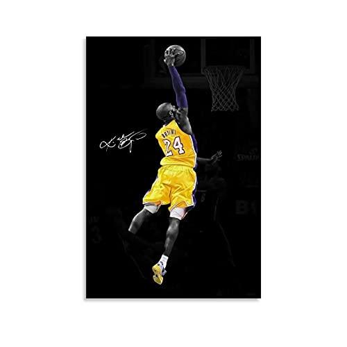 Ghychk Póster de baloncesto Superstar Art Collection Kobe-Bean-Bryant (9) Cuadros en lienzo, impresión a la moda, decoración del hogar para dormitorio 40 x 60 cm