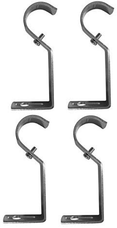TEJATAN Curtain Rod Brackets - SILVER (Se of 4 Brackets) (Also known as - Curtain rod Holder / Curtain rod Bracket / Bracket for Drapery rod / Brackets for curtains rod)