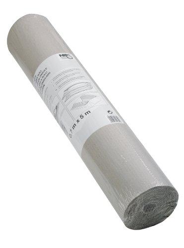 NIPS 139706228 - Rotolo di cartone ondulato, 70 cm x 5 m, colore: Grigio