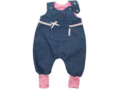 Kleine Könige Body pour bébé avec pochette Jona, étoiles roses, certifié Ökotex 100 - Tailles 50-92 - Bleu - 86/92 cm